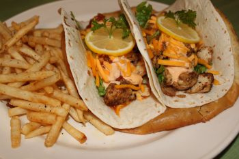 Uncle Ike's Sandbar & Grill, Ike's Famous Fish Tacos (Fish of the Day)